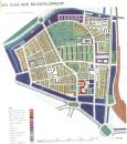 HOXTON: Post war redevelopment Key plan;1943 map